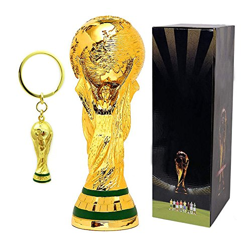 Tankership 2018 World Cup Trophy Replica Soccer Fans Souvenir - 10.5 Inch Tall and World Cup Trophy KeyChain