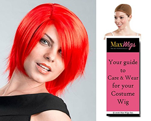 Shag Hat - Shag Anime color MIXED RED - Enigma Wigs Colorful Bundle w/Cap, MaxWigs Costume Wig Care Guide