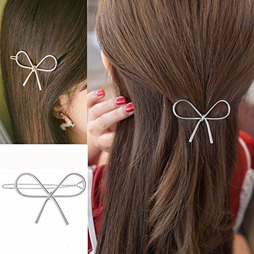 Elevin(TM) Geometric Openwork Butterfly Hairpin Hair Clips Headdress Hair Accessories (Silver)