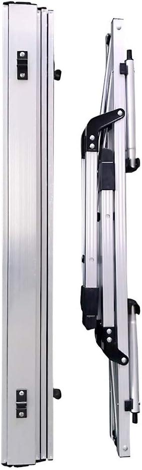IKAYAA Table Pliante dext/érieur en Aluminium Barbecue Portable l/éger pour Pique-Nique Camping L90 * W53 * H70cm.