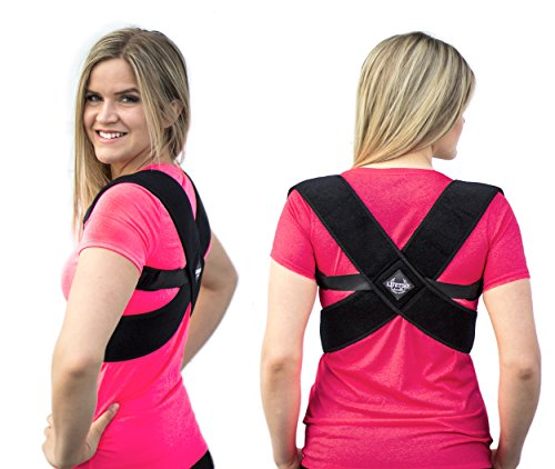 Back Posture Corrector for Men & Women -Kyphosis Brace to Improve Shoulder Alignment & Relieve Upper Back Pain -Posture Brace thats Effective & Comfortable - Clavicle Support for Improve Posture by Lifetime Health