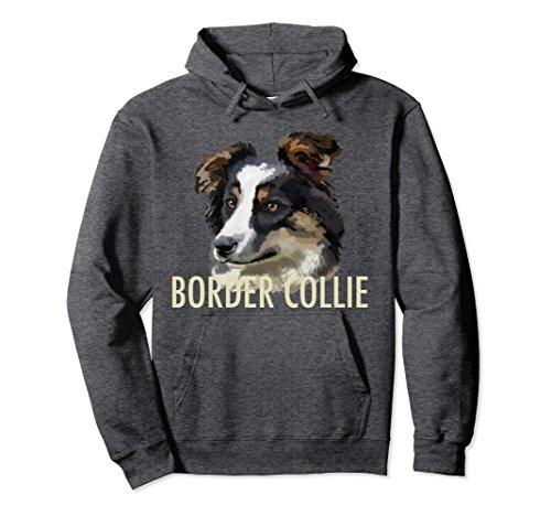 - Unisex Border Collie Dog Pullover Hoodie Medium Dark Heather