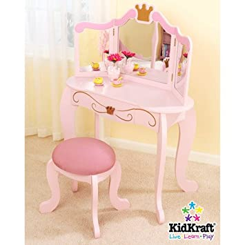 Amazon Com Kidkraft Princess Vanity And Stool Baby Toys Baby