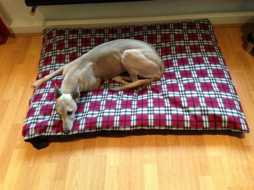 kosipet® Presupuesto barato Pequeño Tartán Rojo Forro Polar Cama Perro Cama, camas para perros, mascotas, dogbed dogbeds, petbed, petbeds,