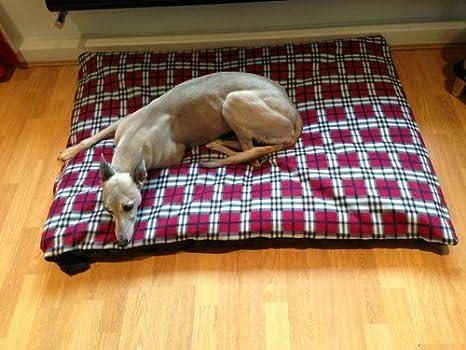 kosipet® Tartán Rojo Forro Polar mediano para cubierta para cama para perro, camas para