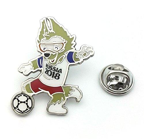 - FIFA World Cup Russia 2018 Mascot Pin Zabivaka the wolf