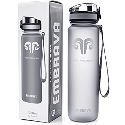 Best Sports Water Bottle - 32oz Large - Fast Flow, Flip Top Leak Proof Lid w/ One Click Open - Non-Toxic BPA Free & Eco-Friendly Tritan Co-Polyester Plastic