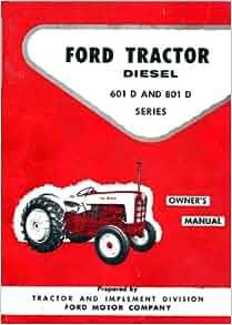 ford tractor diesel     series manual ford motor