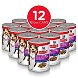 Hill's Science Diet Adult 7+ Savory Stew with Beef & Vegetables Canned Dog Food, 12.8 oz, 12 Pack