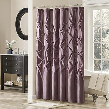 plum shower curtains. Madison Park Laurel Satin Polyester Shower Curtain, Plum Curtains L