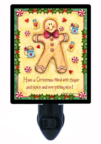 Gingerbread Man Night Light, Sugar and Spice Gingerbread