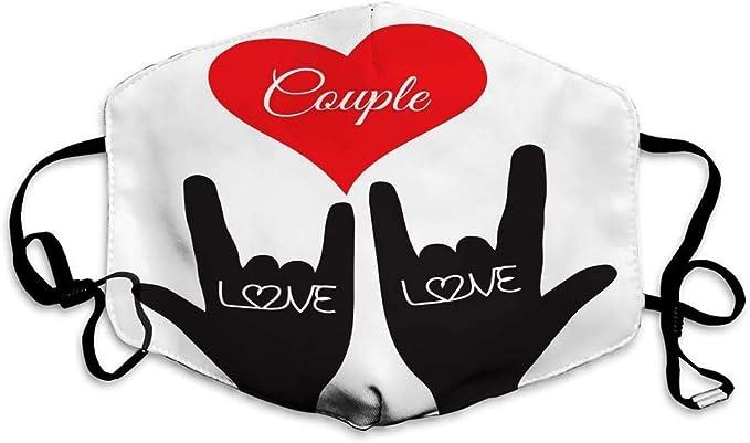 Liebe Handzeichen Liebe Symbol Paar Liebhaber Tinte Maske