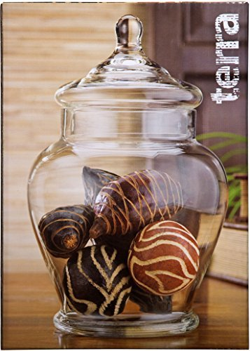 - Home Essentials 11 Inch Vintage Rustic Clear Glass Storage Jar for Candy or Wedding Centerpiece