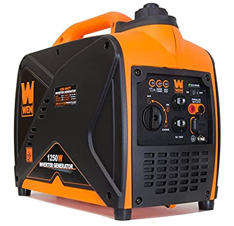 WEN 56125i 1250-Watt Gas-Powered Portable Inverter Generator, CARB Compliant (Power Gas Generator)