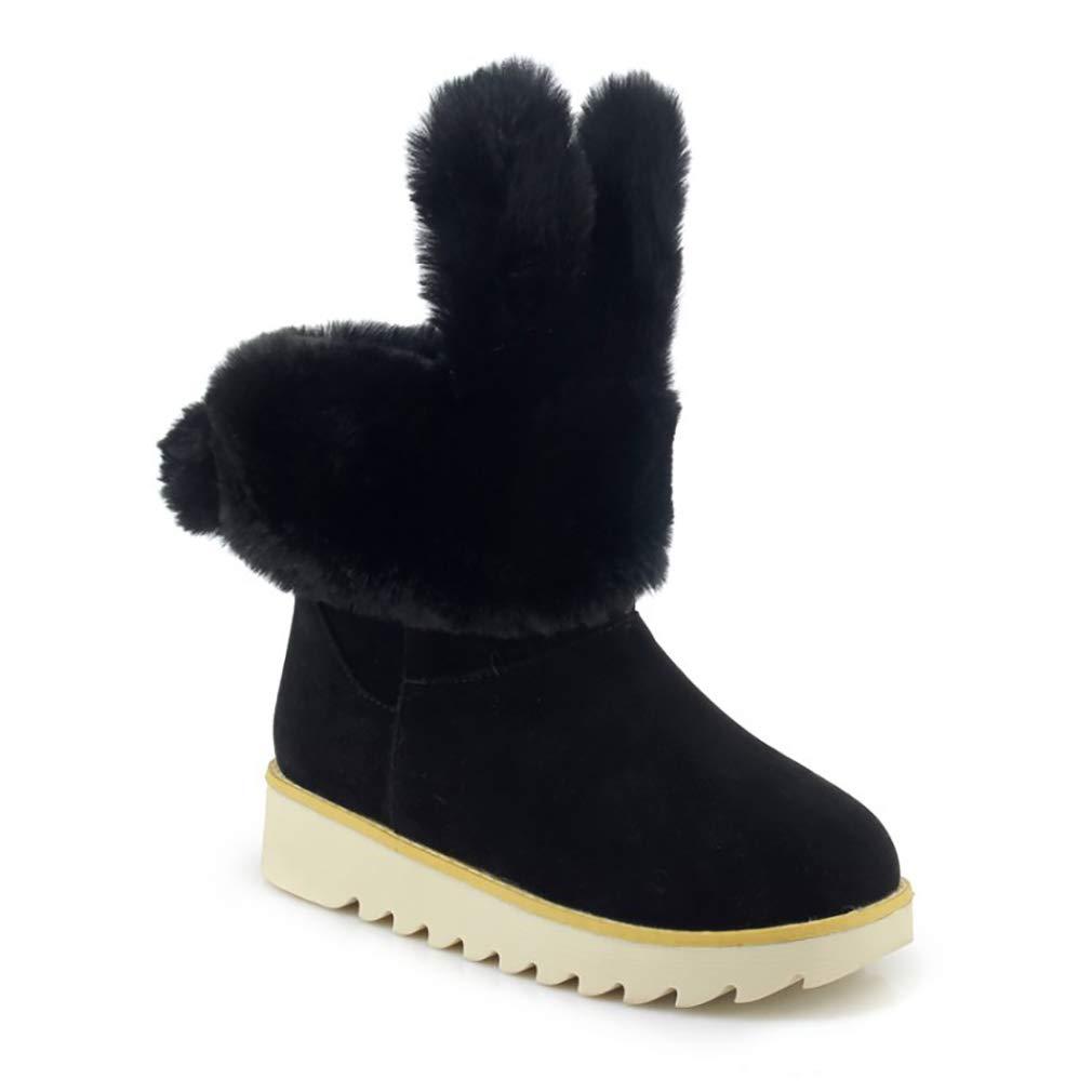 Hy Frauen Stiefelies Wildleder Winter dicken Boden Schneeschuhe Low Top Casual Winter Stiefel Damen Große Größe Plus Thick Outdoor Ski Schuhe (Farbe   F Größe   33)