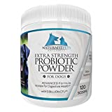 Naturafitpets Probiotic Powder for Dogs Extra Strength - 120 Servings Per Tub. Advanced Formula Scoops for Digestive Health