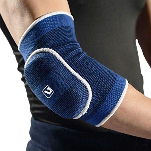 Compression Elbow Pad Cap -Liveup SPORTS Elbow Protector Brace Best Support for Yoga Pilates Tennis Tendinitis Golfers Weightlifting Arthritis - Reduce Joint Pain-LS5703 Large Size