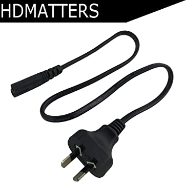 New AC power supply adapter cord Cable Connectors 2 pin 2-prong 50cm US Plug