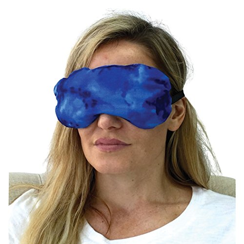 Eye Mask - Lavender Eye Pillow - Natural Relaxation - Headache Relief (Blue Sky)