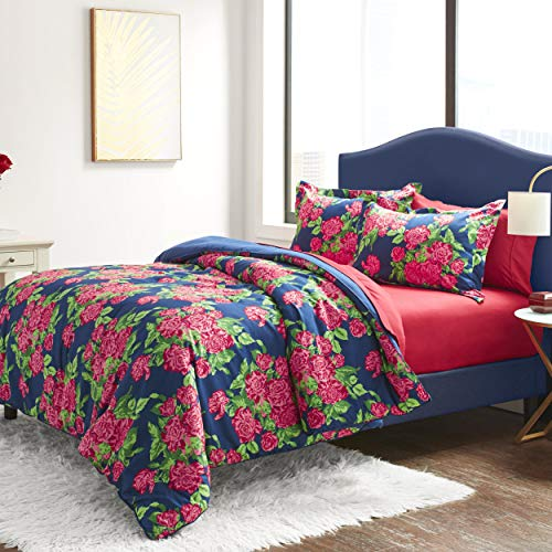 Betsey Johnson Bountiful Bouquet Bed Set, King, Blue