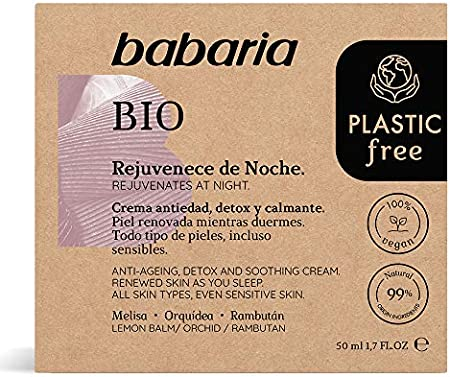 Babaria Bio Plastic Free Crema Facial Rejuvenecedora Noche 50 ml
