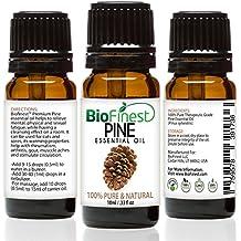 BioFinest Pine Oil - 100% Pure Pine Essential Oil - Premium Organic - Therapeutic Grade - Best For Aromatherapy - Improve mood - Heighten Awareness - FREE E-Book (10ml)