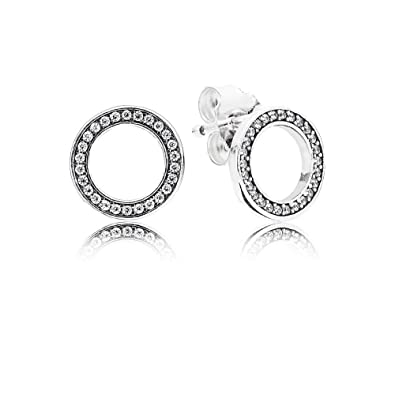 d4ba583af7e86b Amazon.com: Pandora 290585CZ Forever Pandora Stud Earrings: Jewelry