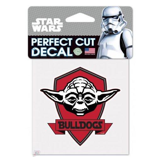 Georgia Bulldogs Yoda Star Wars Logo Perfect Cut Decal 4