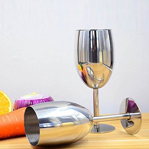 bc1bf4993b7 Buy Shopystore New Arrival Stainless Steel Wine Glass Goblets Home Wine  Accessories Online at Low Prices in India - Amazon.in
