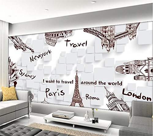 [Customize,Contact Us],Wallpaper Hand Painted Famous Building Travel 3D Tv Backdrop Living Room Bedroom Mural Wallpaper for Walls 3 D,by ZLJTYN by ZLJTYN