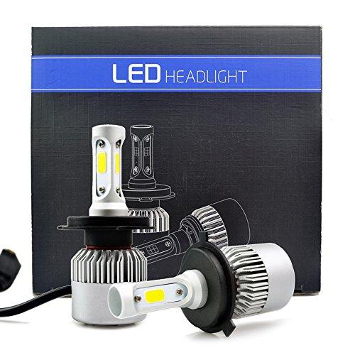 iDlumina H4 9003 12V 24V White LED Car Light Bulb 3X10W COB Aluminum Fan Cooling Design for Replacement Headlight Fog Light (Pack of 2)