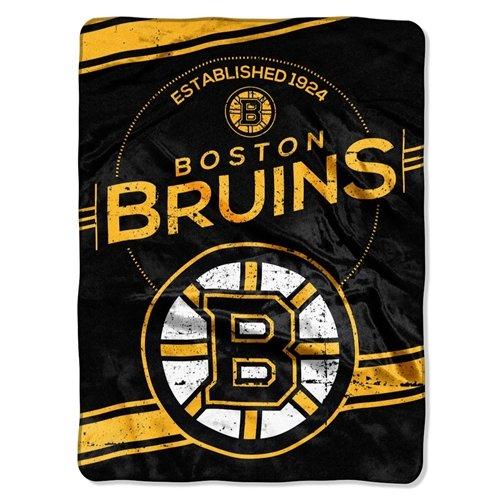 Bruins Blanket Boston (Boston Bruins 60''x80'' Royal Plush Raschel Throw Blanket - Stamp Design)