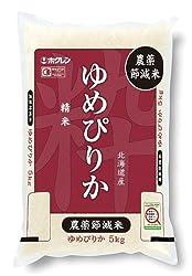 【精米】【Amazon.co.jp限定】 ホクレン 北海道産 農薬節減米 白米 ゆめぴりか 5kg 平成27年産