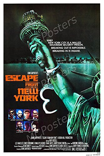 MCPosters Escape from New York Kurl Russell GLOSSY FINISH Mo