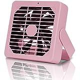卓上扇風機 USB扇風機 ミニ扇風機「多彩の夏、マカロンシリーズ 静音ミニ扇風機」 2段調節風量 USB式 360度角度調整(卓上ファン 熱中症対策 ミニコンピュータ冷却ファン) (ピンク)