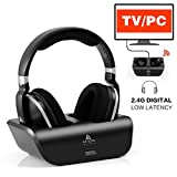 Wireless TV Headphones Over Ear Headsets - Digital Stereo Headsets with 2.4GHz RF