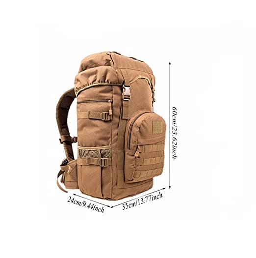 16033b284d28 Amazon.com: SeSDY Outdoor Mountaineering Bag 50L Large Capacity ...