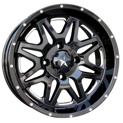 4/156 Motosport Alloys M26 Vibe Wheel 14x7 3.5 + 3.5 Machined/Black for Polaris RANGER RZR XP 4 TURBO FOX Edit. 2018