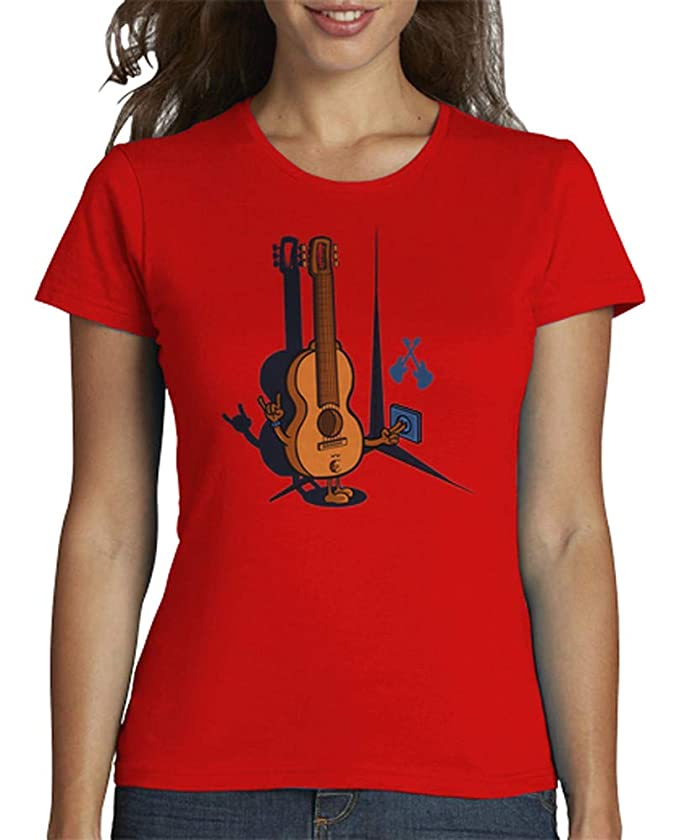 latostadora - Camiseta Guitarra Electrica 1 para Mujer: ibaitxo: Amazon.es: Ropa y accesorios