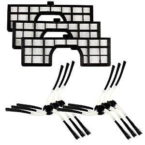 Original Markenware Menalux MRK02 Robotic-Filter-Seitenbürsten-Set für...