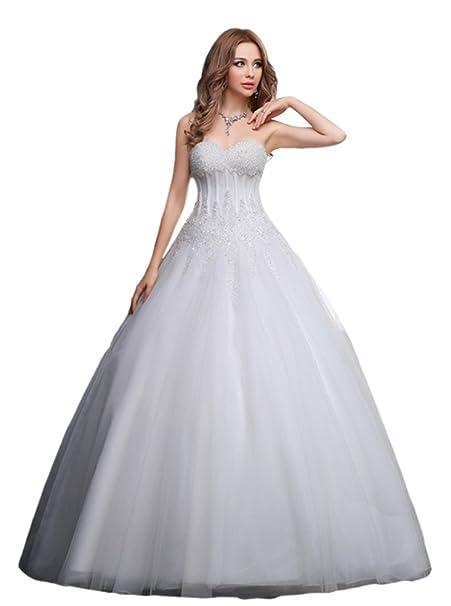 Nueva moda de verano se fino encaje vestido de la novia Casado boda