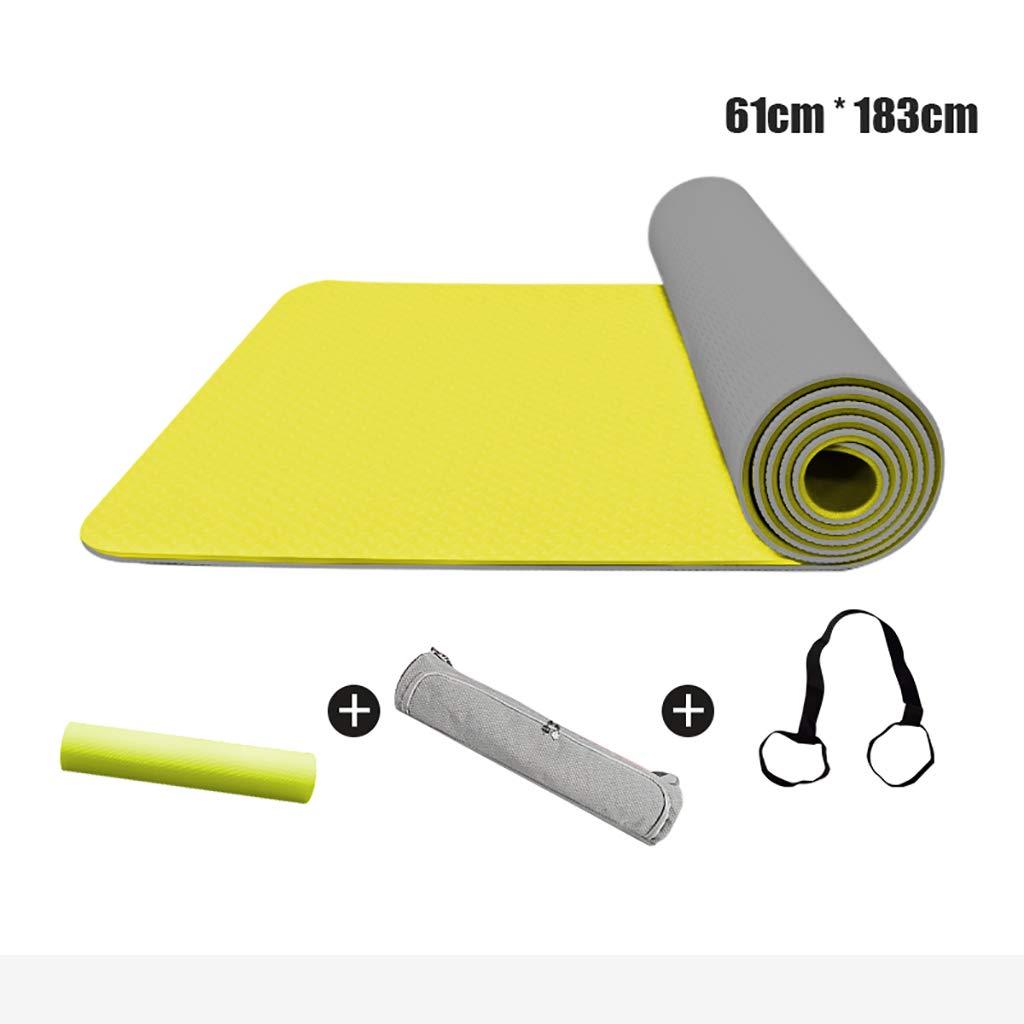 Yoga Yogamatte 6mm Naturkautschuk Professional Skid Matte TPE Fitness Matte Männer und Frauen geruchlos