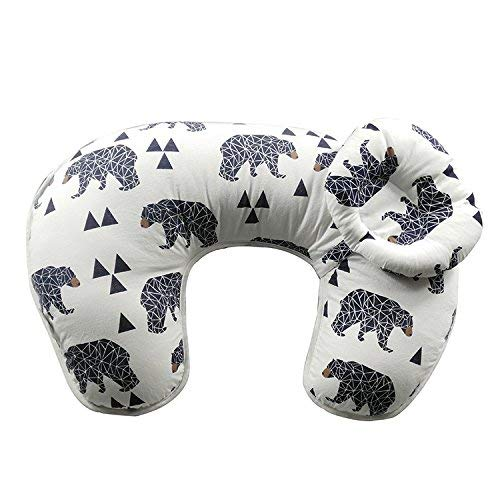 514AuZCpk0L - Baby Breastfeeding Nursing Pillow And Positioner,Machine Washable, Nursing And Infant Support Pillow Bonus Head Positioner New Package(Bear)