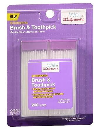 Amazon 3 Pack Of Walgreens Interdental Brush Toothpick 2600
