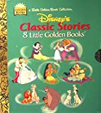 Disney's Classic Stories: 8 Little Golden Books : Cinderella, Aladdin, The Jungle Book, Snow White and the 7 Dwarfs, Beauty and The Beast, Pocahontas, 101 Dalmatians, Lady and the Tramp