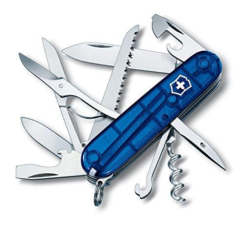 Victorinox Swiss Army Huntsman Pocket Knife  Translucent Sapphire