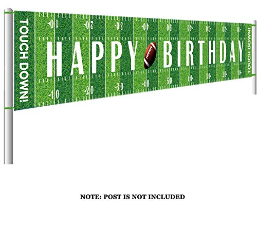Colormoon Large Football Happy Birthday Party Banner, Game Day Sports Party Decorations, Football Photo Backdrop Hanging Decorations(9.8 x 1.5 ()