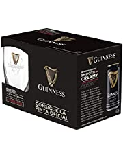 Cerveza Guinness 4 Latas 400 ml + 1 Vaso Pinta