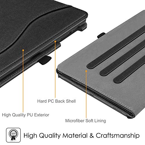 Fintie Case for Samsung Galaxy Tab A 10.1 2019 Model SM-T510(Wi-Fi) SM-T515(LTE) SM-T517(Sprint), Multi-Angle Viewing Stand Cover with Packet, Black