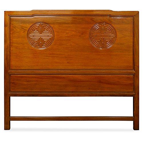 - China Furniture Online Rosewood Queen Size Longevity Design Headboard